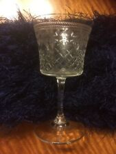 Vintage Collectible 1930's Set of Four Edwardian Acid Etched Port Sherry Glasses
