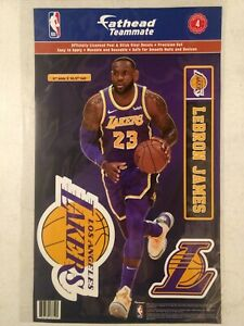 """LEBRON JAMES LOS ANGELES LAKERS 2019 11""""X17"""" 4 PIECE FATHEAD WALL GRAPHIC DECALS"""