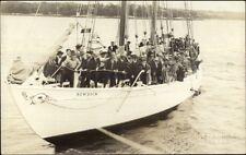 Boothbay ME Arctic Exploration Ship Bowdoin c1920 Real Photo Postcard #2