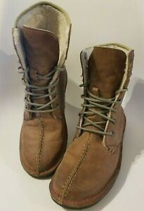 Wegner Womens Sz 8- Fleece Lined Genuine Leather Boots