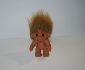 vintage Thomas Dam Troll Doll, Made in Denmark 1977