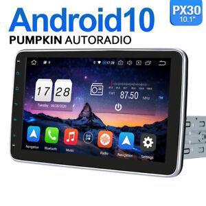 Pumpkin 10,1 Zoll 1 DIN Android 10.0 Autoradio GPS Navigation DAB+ USB WiFi RDS