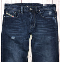 Mens DIESEL Larkee Jeans W33 L32 Blue Regular Straight Wash 008TE
