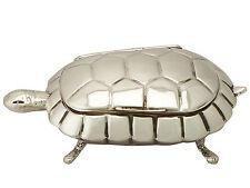 Sterling Silver 'Tortoise' Trinket Box/Compact - Antique Edwardian