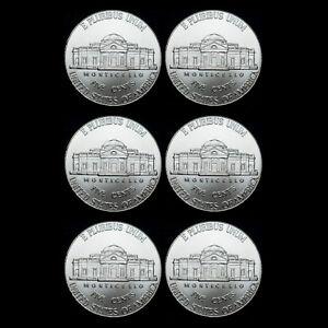 2019 2020 2021 P+D Jefferson Nickel Set Mint Business Strike from Bank Roll