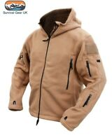 Coyote Recon Tactical Fleece Hoody Military Forces Airsoft Army Security