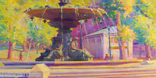 Boston BREWER FOUNTAIN Park 11x17 Giclee Art Print