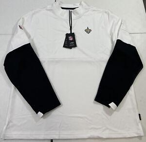 Nike New Orleans Saints Performance Half-Zip Pullover Jacket Men's Size XL