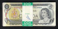 1973 CANADA 1 DOLLAR BANK NOTE - CONSECUTIVE X100