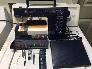 Husqvarna Viking 980 Sewing Machine W/Pedal And Accessories