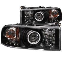 ANZO 111065 Halogen Projector Headlights for 94-02 Dodge Rams (Set of 2)