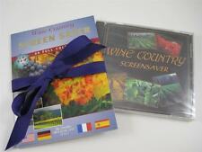 2 Wine Country Screen Saver Disks Brand New John Wagner Windows & Mac CD-ROM