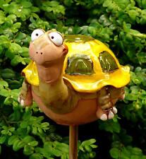 Gartenstecker Gartenkugel  Beetstecker Schildkröte Keramik Handarbeit
