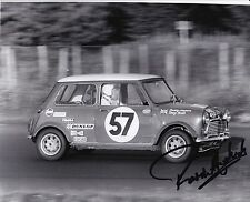 Paddy Hopkirk Hand Signed 10x8 Mini Photo 1969 Spa.