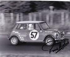 Paddy Hopkirk Hand Signed 10x8 Mini Photo 1969 Spa.