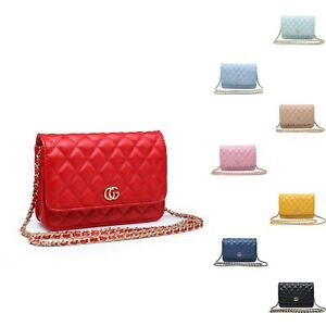 Woman Synthetic Leather Mini Small Diamond - Quilted Messenger Cross Body Bag UK