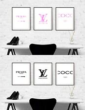 Set of 3 Fashion Prints Simple Classic Print A4 A3 A2Wall Art Decor Coco