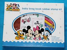 DISNEY BABIES - BABY BRAG BOOK RUBBER STAMP KIT *NEW*