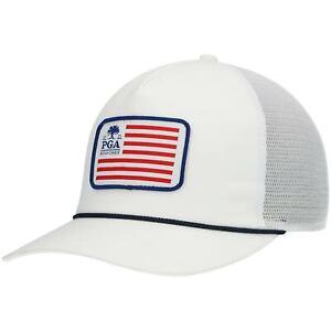 2021 PGA Championship Imperial Flag Rope Snapback Hat - White
