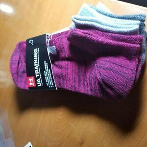 Under Armour Women's UA train training No Show Socks 4-Pairs fits shoe Size 6-9