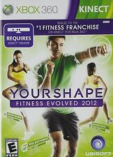 XBOX 360 GAME YOUR SHAPE FITNESS EVOLVED 2012 KINECT BRAND NEW & SEALED