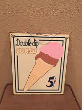 Ice Cream Cone 5 Cents Vintage Kitchen Restaurant Metal Sign 10 x 12