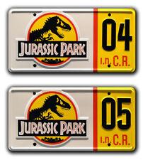 Jurassic Park | Ford Explorer | #04 #05 | Metal Stamped Prop License Plate Combo