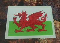 Welsh Dragon  sticker 150mm x 105mm Wales St Davids cymru BUMPER STICKER
