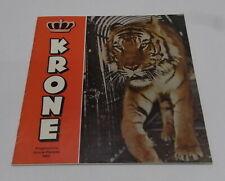 Programma Circus / programm Krone 1963 / 42 pagina's