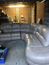 Large Leather Electric Reclining Settee
