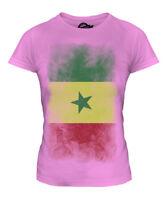 SENEGAL FADED FLAG LADIES T-SHIRT TEE TOP SENEGAL FOOTBALL SENEGALESE GIFT SHIRT