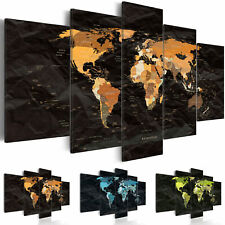 Canvas Print World Map Framed Wall Art Picture Image k-C-0009-b-n