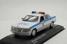 RARE !!! Mercedes 500 SE Russian Police Custom Made 1/43
