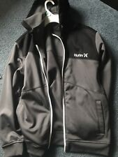 HURLEY NIKE DRI FIT Zip Up Fall/Winter/Spring Jacket Gray/Black Size Large