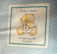 CROSS STITCH CHART Forever Friends Personalised Baby Birth Picture PATTERN ONLY
