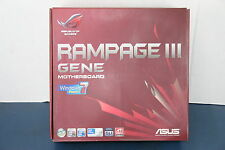 "Asus Rampage III Gene LGA1366 Gaming Motherboard ""Brand New"""