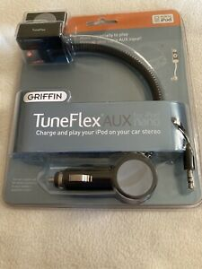 New Griffin TuneFlex AUX for iPod Car Charger Play In Car W/ Cradle & AUX Cable