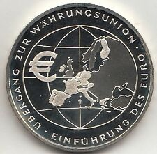 GERMANIA GERMANY 2002 10 Euro GERMANIA Introduzione Euro PROOF  FONDO SPECCHIO