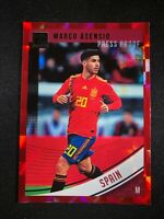 2018-19 Panini Donruss Soccer Marco Asensio Spain Madrid #163 Red Press Proof