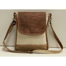 Canvas and Leather Unisex Sling Bag