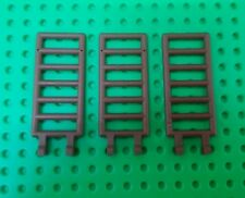 *NEW* Lego Large Brown 2x6 Ladders w Clips Castles Farms Sheds - 3 pieces