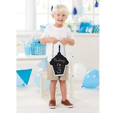 Mud Pie Blue Cupcake Shaped Boys Birthday Chalkboard Sign Photo Prop New