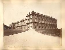 19,4x25 NAPOLI,Palazzo Reale di Capodimonte,Fr° Pesce foto.,albumen print c.1880