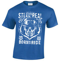 Kids Steel is Real T-Shirt cool Biker Tee 66 No Fear born to ride childrens