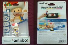 SUPER MARIO TOAD AMIIBO FIGURE NINTENDO SWITCH WII U 3DS BRAND NEW U.S. VERSION