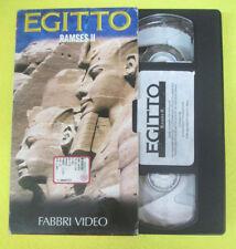 VHS film EGITTO Ramses II 1997 FABBRI VIDEO faraone (F107) no dvd