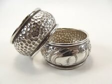 PAIR OF ANTIQUE SILVER NAPKIN RINGS HALLMARKED BIRMINGHAM 1908 REF 295/2