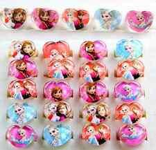 Wholesale 100 pcs Mixed Resin Cartoon Girls princess Children Heart Rings WQ-09