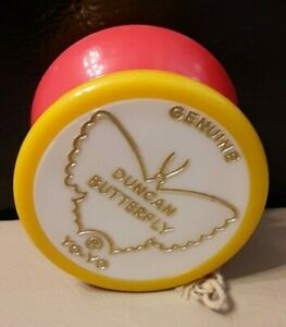 Vintage 1970's Genuine Duncan Red and Yellow Butterfly Yo-Yo