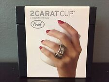 Fred & Friends 2 Carat Coffee Cup Mug With Silver Ring & Swarovski Crystal NEW